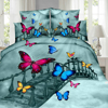 Imagine Lenjerie pat 2 persoane, 4 piese, 3D PRINT- Butterfly